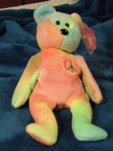 Ty Beanie Baby Peace 115 # Tush, Mint Tag w/ Tag Protector Mixed Colors ... - $30.39