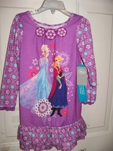 Disney Store Frozen Floral Purple Nightgown Girl's NEW HTF - $21.36