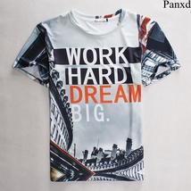 Plus Size S-3XL Work Hard Dream Big  Unisex 3d Printed T Shirts Cool Slim Tee
