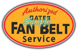 Gates Fan Belts Vinyl Decals Sign Stickers Vintage Advertising - $4.00+