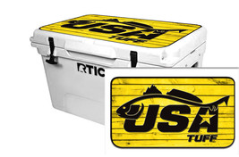 "RTIC Wrap ""Fits Old Mold"" 65qt Cooler 24mil Lid Kit USATuff RedFish Wood... - $36.95"
