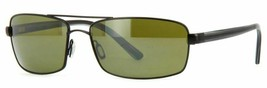 Serengeti SAN REMO Satin Black Gray Strp / Green Polarized 555nm Sunglas... - $273.42