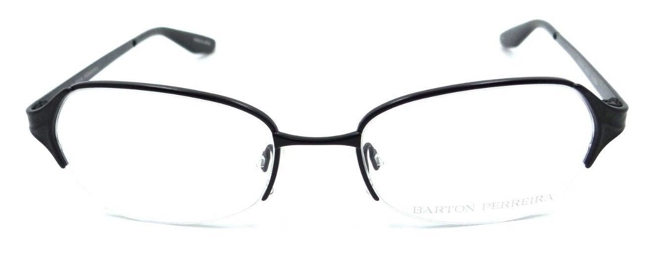 Barton Perreira Valera Eyeglasses Frames 50-18-135 Black Satin/Black Snake Women
