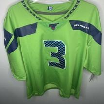 Seattle Seahawks Nike NFL Jersey #3 Russell Wilson On Field Color Rush 1... - $64.34