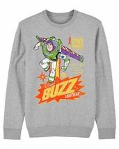 Disney Toy Story 4 Retro Buzz Lightyear Children's Unisex Grey Sweatshirt - $21.31