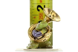 Hagen Renaker Miniature Frog Toadally Brass Band Tuba Ceramic Figurine image 2