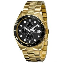 Emporio Armani AR5857 Gold Chronograph Mens Watch - $143.37 CAD