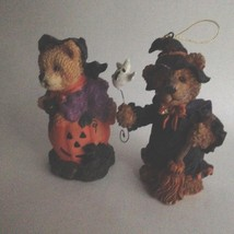 "Two Halloween Resin Bear Figurines 5"" Tall Home & Office Party Decorations - £7.13 GBP"