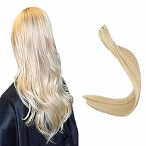 Full Shine Tape On Hair Extensions 16 Inch Color 22 Blonde Remy Human Hair 20 Pc