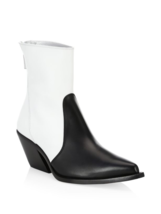Givenchy Color Block Leather Cowboy Boots Size 36.5 MSRP: $1,295.00 - $791.99