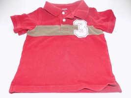Toddler Size 2T Gymboree Red Polo Shirt Top #3 on Front GUC - $8.00