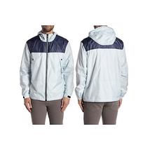 NEW Noize M Medium Colorblock Panel Nylon Hoodie Jacket Zip Up Blue $185 - $37.54