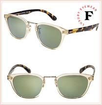 Oliver Peoples LERNER Retro Sunglasses OV5369S Buff Tortoise Green Mirro... - $277.20