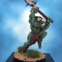 Painted Ral Partha Crucible Miniature Orc Night Axe - $37.25