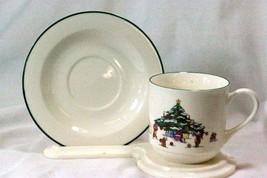 Salem China Whimsical Christmas Cup And Saucer - $6.15
