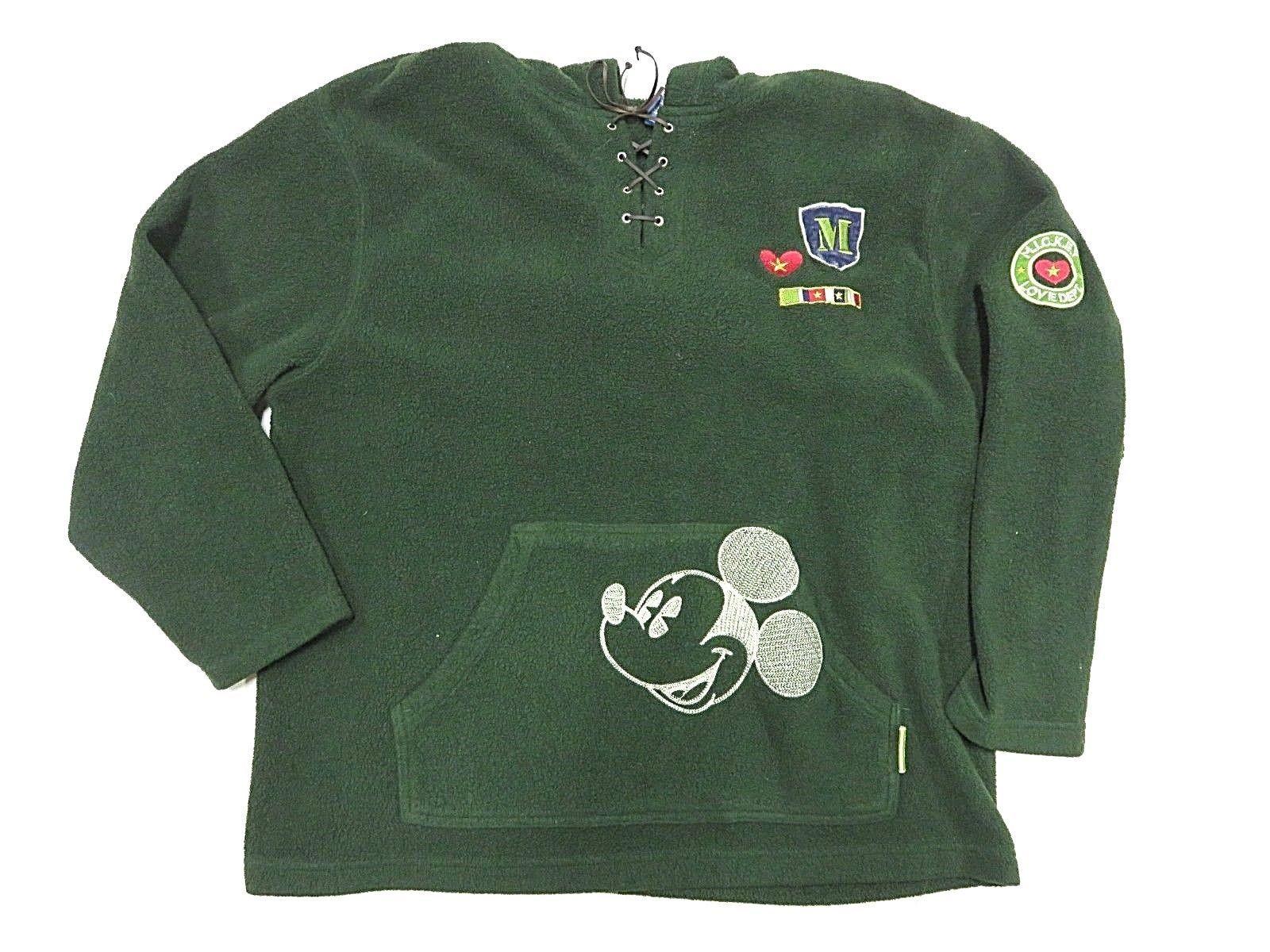 1287321b 90s VTG Disney Green Fleece Hooded Pullover and 50 similar items