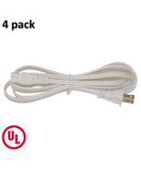 BYBON (4 PACK) 3ft 18AWG SPT-2 Non-Polarized Power Cord 2-Slot White UL ... - $13.95