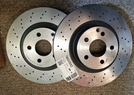 Pair Rotors Front fits 06-09 Mercedes E350 image 1