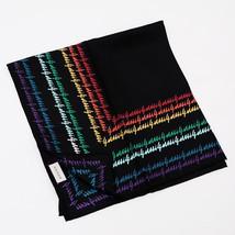 GUCCI Scarf Stole Silk 100% Black Woman Luxury Fashion Auth New Unused R... - $360.60