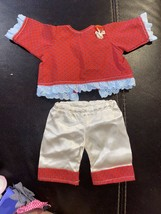 Vintage Cabbage Patch Kid clothes Outfit Handmade By Professional Seamstress Red - $4.99