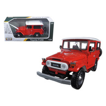 Toyota FJ40 Red 1/24 Diecast Model Car by Motormax - $39.24