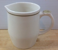 Starbucks Coffee 16 Oz White Milk Frother Creamer Pitcher Jug 2008 - $18.69