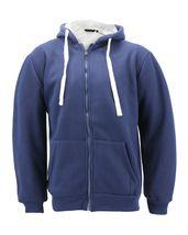 Men's Heavyweight Thermal Zip Up Hoodie Warm Sherpa Lined Sweater Jacket image 10