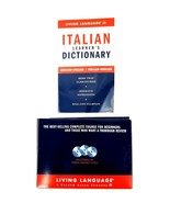 Living Language Italian Learners Dictionary with 40 Lessons 3 CDs Compac... - $14.95