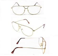 Gold Metal Frame Aviator No Line Full Clear Lens Reading Glasses 1, 2 or... - $6.95+