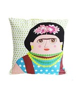 Hand Made Late Greats Pillow Frida Kahlo 16x16 - $37.35