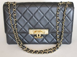 Chanel Black Calfskin Leather Quilted Flap Bag ... - $5,395.50
