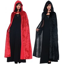 "Underwraps 55"" Cloak Hooded Cape Renaissance Medieval Adult Halloween Co... - $22.19"