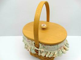 2001 Longaberger Vintage Blossoms Basket w/Liner, Plastic Protector & Lid (14) - $19.35