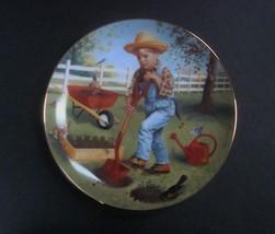 Danbury Mint Children of the Week Saturday's Child Plate w/box, no COA - $8.99