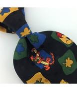 POOH DISNEY TIE RED Gold  Tigger Winnie Pure Clover Honey Silk Necktie N... - $15.83