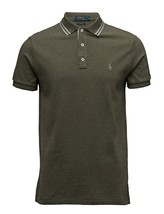 Polo Ralph Lauren Custom Fit shirt mens large mountain green Cotton RP$127 - $34.65