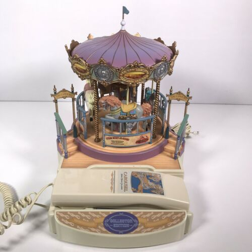 Great American Musical Merry Go Round Carousel Corded Novelty Phone Wind Up image 2