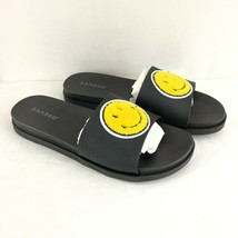 Bamboo Womens Slide Sandals Rubber Smile Face Slip On Black Size 10 - $24.18