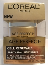 New LOreal Paris Age Perfect Cell Renewal Night Cream Skin Moisturizer 1.7 Oz - $16.00