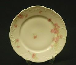 """Antique Haviland Limoges France 7-3/4"""" Salad Plate Pink Cornflower Scall... - $14.84"""