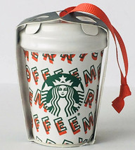 Starbucks Christmas Ornament 2019 Merry Coffee Ceramic Coffee Cup Ornament - $29.69