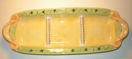 Pfaltzgraff Pistoulet Three Section Condiment Relish Tray Dish Ceramic  - $15.00