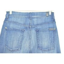 7 For All Mankind jeans cropped 29 x 24 NWT raw hem USA image 9