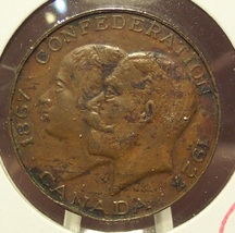 1927 Medal celebrating 60th anniversary of the Canadian Confederation EF #0995 - $4.99