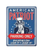 Open Road Brands Patriot Parking Only Embossed Metal Sign - $22.42