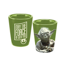 Star Wars Yoda Figure May the Force Be With You Shot Glass, NEW UNUSED - $4.97