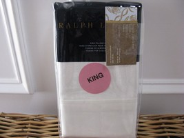 Ralph Lauren PENTHOUSE SUITE COCO DE MER Cream King Pillowcases $215 - $91.15