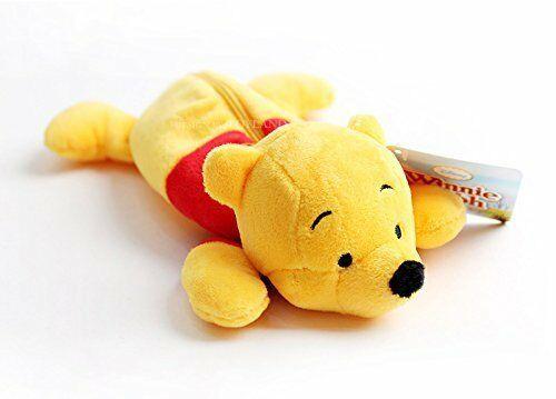New Disney Winnie the Pooh Stuffed Plush Doll Pen Case Yellow Limited Japan