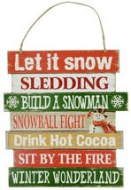 """Seven Things To Do In The Winter Multi-Color Hanging Sign 10.5""""X11.5"""" Br... - $7.00"""