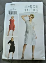 Pattern Vogue Designer Dress Pullover Draped Pockets March Tilton V8813 ... - $14.35